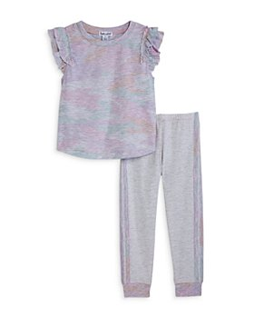 Splendid - Girls' Pastel Camouflage Top and Joggers Set - Little Kid