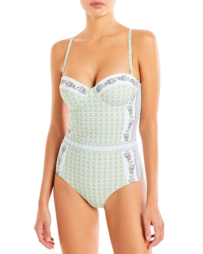 Tory Burch One-pieces LIPSI PRINTED UNDERWIRE ONE PIECE SWIMSUIT