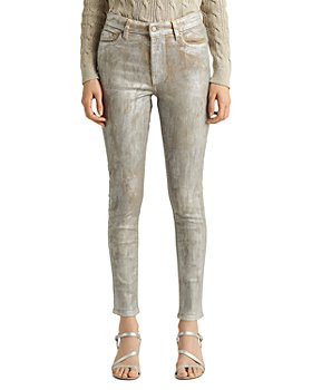 Ralph Lauren - High Rise Skinny Ankle Jeans in Artisanal Silver Wash