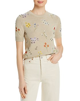 Tory Burch - Floral Embroidered Sweater