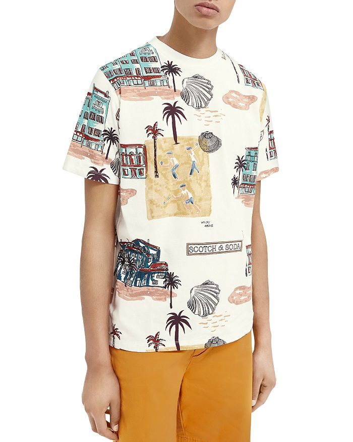 Scotch & Soda Cottons COTTON GRAPHIC TEE