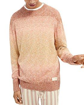 Scotch & Soda - Cotton Blend Ombré Gradient Stripe Regular Fit Crewneck Sweater