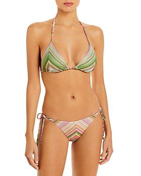 PQ Swim - Metallic Stripe Triangle Bikini Top & Bottom