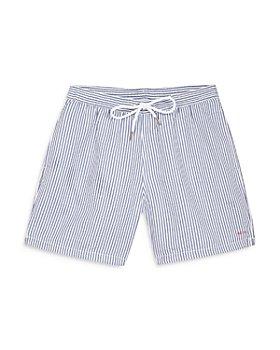 Maison Labiche - Boss Embroidered Striped Swim Shorts
