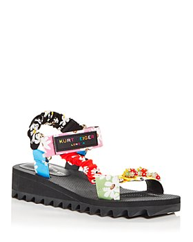KURT GEIGER LONDON - Women's Orion Embellished Demi Wedge Sandals