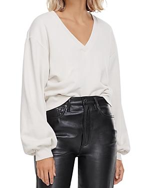 Agolde Cotton Balloon-Sleeve Sweatshirt