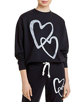 AQUA - Heart Print Sweatshirt - 100% Exclusive