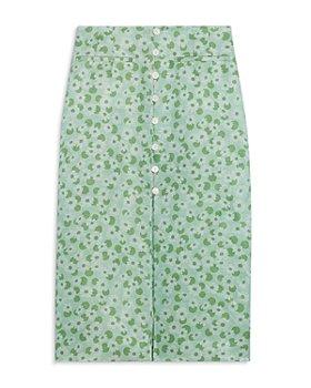 Sandro - Lavande Floral Print Midi Skirt