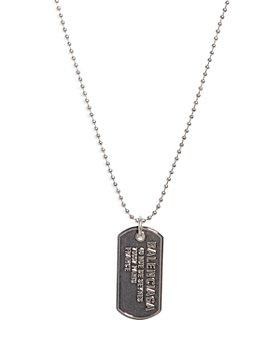 Balenciaga - Engraved Punk Tag Necklace