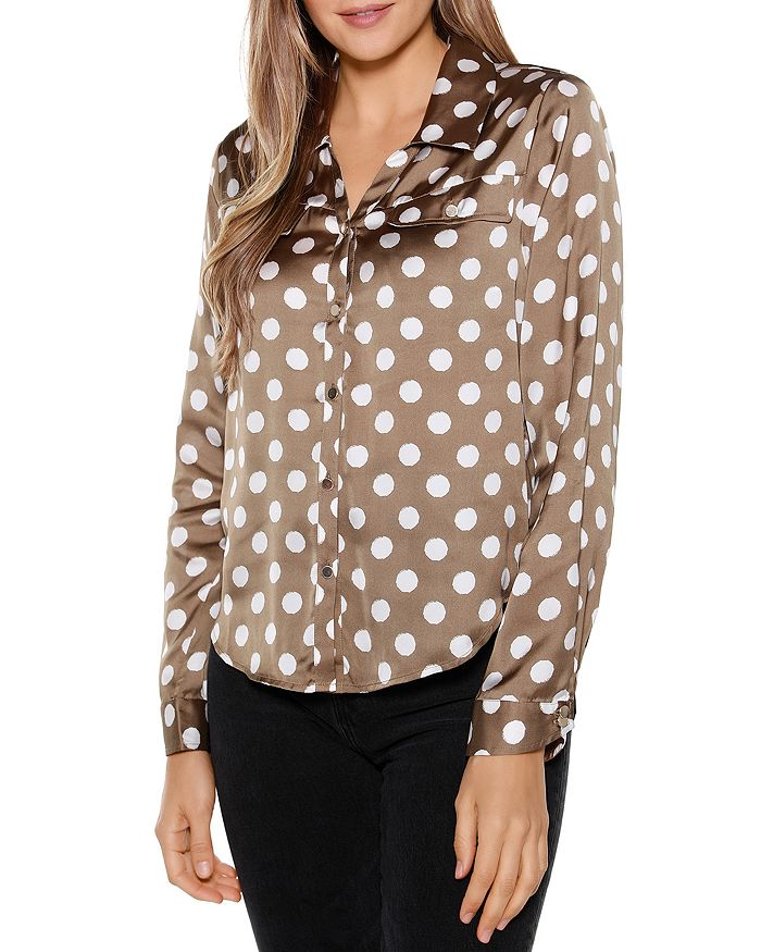Belldini DOT PRINT COLLARED SHIRT