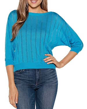 Pointelle Pullover Top