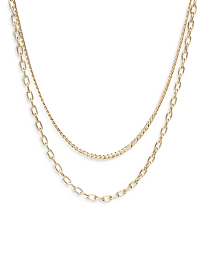 Zoë Chicco 14k Yellow Gold Double-row Chain Necklace, 18