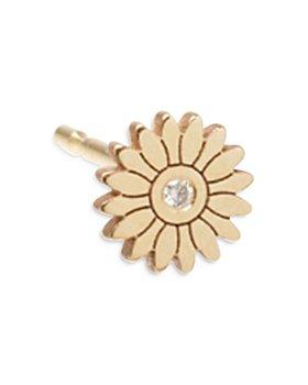 Zoë Chicco - 14K Yellow Gold Diamond Flower Stud Earring