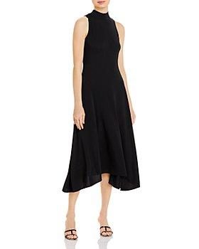 Theory - Fluid Knit Mock Neck Midi Dress