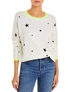 AQUA - Star Print Sweater - 100% Exclusive