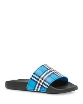 Burberry - Women's Check Print Slide Sandals