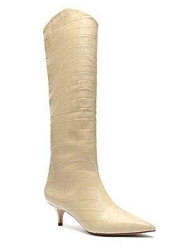 SCHUTZ - Women's Maryana Lo Crocodile-Embossed Leather Boots