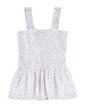 AQUA - Girls' Smocked Top, Big Kid - 100% Exclusive