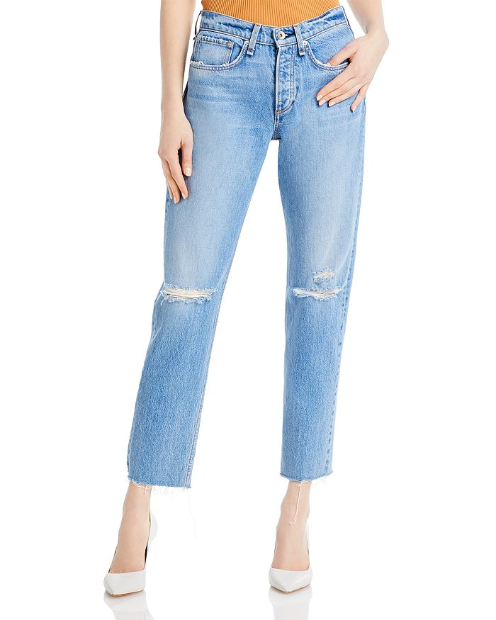rag & bone - Rosa Distressed Boyfriend Jeans