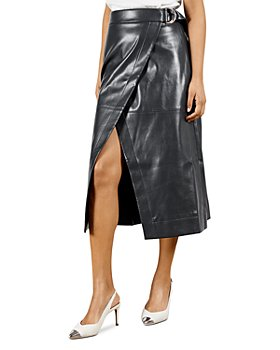 Ted Baker - Faux Leather Wrap Skirt