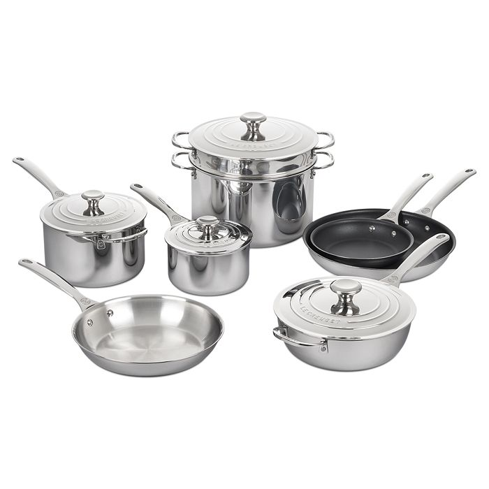 Le Creuset - 12 Pc Stainless Steel Cookware Set