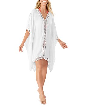 Tommy Bahama - Lace Trim Tunic Swim Cover-Up - 100% Exclusive