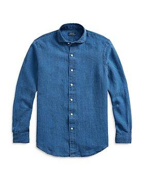 Polo Ralph Lauren - Dot Print Linen Classic Fit Shirt