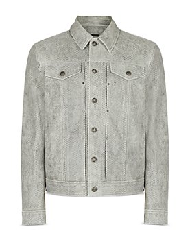John Varvatos Collection - Cropped Lambskin Trucker Jacket
