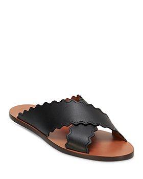 Chloé - Women's Ingrid Scalloped Slide Sandals