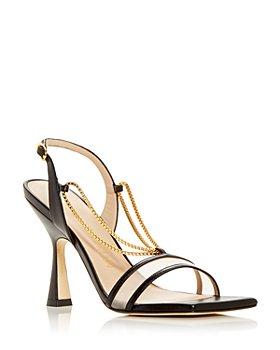 Stuart Weitzman - Women's Roxanna Chain & Mesh Slingback High Heel Sandals