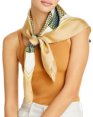 Dots on Dots Silk Square Scarf