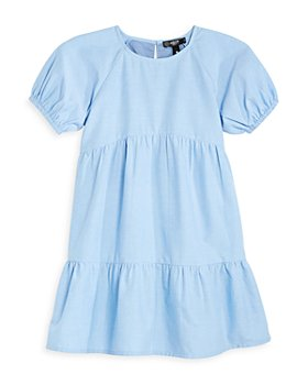 AQUA - Girls' Tiered Chambray Dress Big Kid - 100% Exclusive