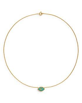 "Tory Burch - Evil Eye Stone Pendant Necklace, 18"""