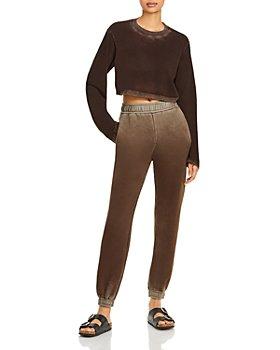 Cotton Citizen - Tokyo Long Sleeve Cropped Tee & Brooklyn Sweatpants