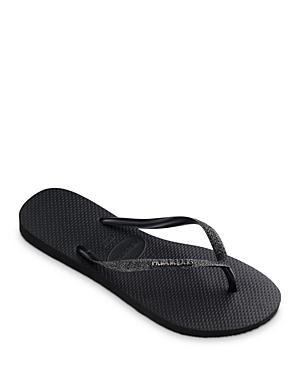 Women's Slim Glitter Flip-Flops