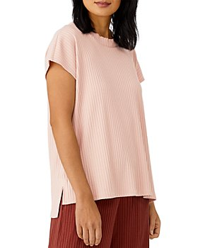 Eileen Fisher - Crewneck Ribbed Knit Top