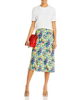 AQUA - Printed Midi Skirt - 100% Exclusive