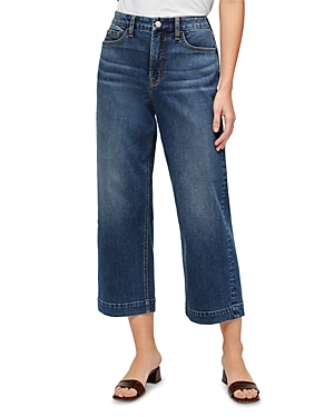 Jen 7 Cropped Wide Leg Jeans in Quincy
