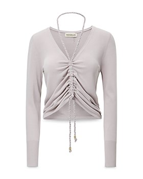 Nicholas - Darla Ruched Cropped Pullover