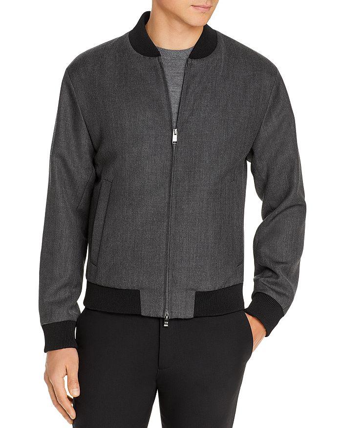 BOSS - Nolwin Wool Slim Fit Bomber Jacket