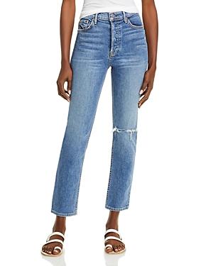 Reed Cropped Straight Leg Jeans in Sandblast