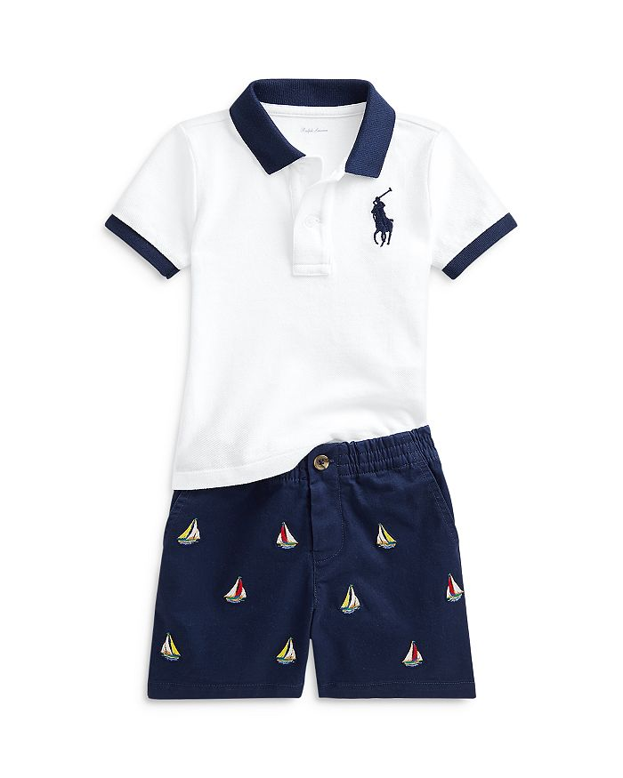 Ralph Lauren BOYS' POLO SHIRT & SHORTS SET - BABY