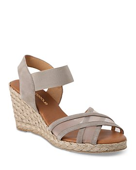 Andre Assous - Women's Lucia Crossover Mesh Espadrille Wedge Sandals