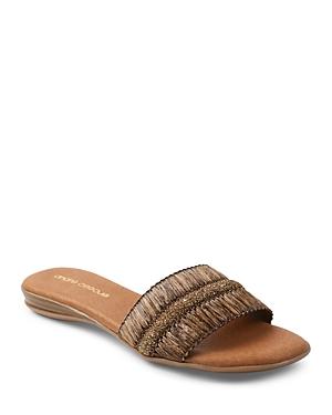 Women's Isabela Glitter Raffia Slide Sandals