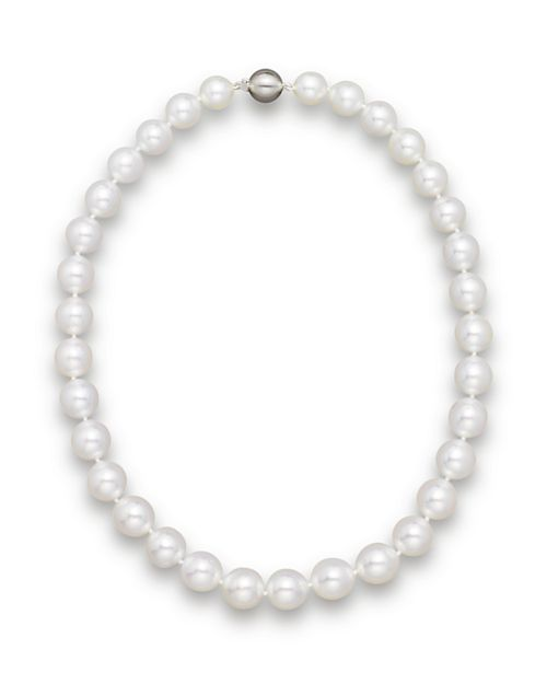 """Bloomingdale's - Cultured White South Sea Pearl Necklace in 14K Yellow Gold, 18""""- 100% Exclusive"""