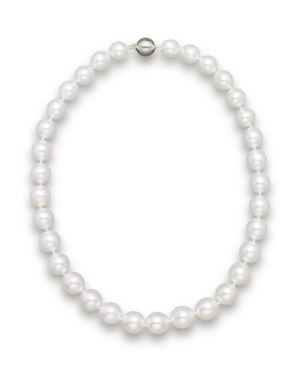 Cultured White South Sea Pearl Necklace in 14K Yellow Gold, 18
