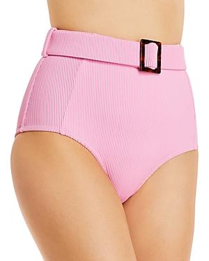 Zola Ribbed Belted High Waist Bikini Bottom