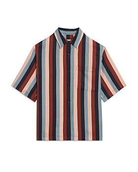 Sandro - Striped Short Sleeve Shirt