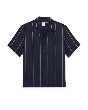 Sandro Pinstriped Short Sleeve Shirt