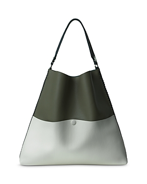 Iconic Slim Color Block Leather Tote